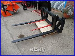 2 Tonne Tractor / Telehandler Loader Pallet Forks / Tines Euro 8 Bracket