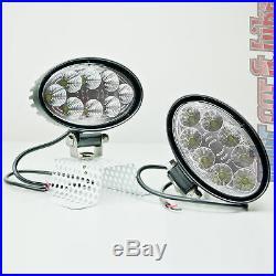 2x Hella ValueFit 12V 24V LED Arbeitsscheinwerfer oval breite Ausleuchtung