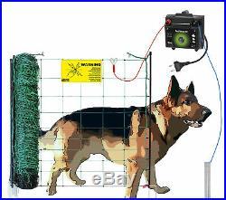 50 m Komplettset Elektrozaun für Hunde Weidezaungerät + Elektronetz Hundezaun