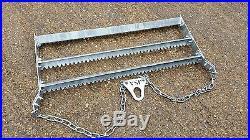 ATV Grader Land rake Equine arena menage Heavy Duty 3 reversible blades Toothed