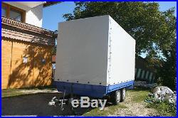 Bayerwald Anhängerplane Hochplane nach Maß bis L 3,20 m x B 1,60 m x H 1,50 m