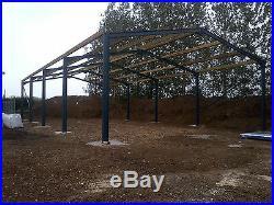 CE STEEL FRAMED BUILDING PORTAL FRAME KIT BUILDING 60ft X 40ft X 15ft
