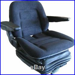 DELUXE TRACTOR SUSPENSION SEAT FABRIC/ARMRESTS/GRAMMER DS85/h90 STYLE BRAND NEW