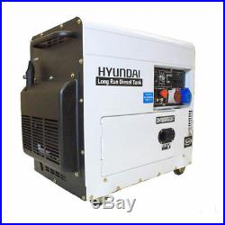 Diesel Generator Backup 6kw Silenced Long Running 7.5kVa Standby 3 Phase HYUNDAI