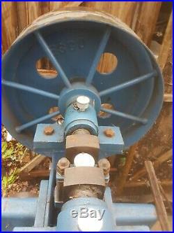ESCO vintage log kindling splitter stick chopper machine steam rally belt drive