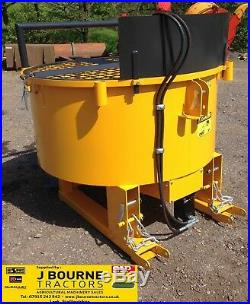 HYDRAULIC DRIVEN PAN MIXER, concrete pan mixer, Tractor / forklift mounted