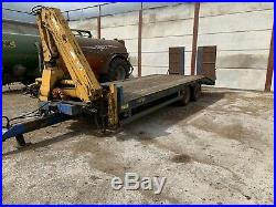 Herbst Tractor Low Loader With Hiab, Air Brakes, Crane Trailer, Digger, Tractor