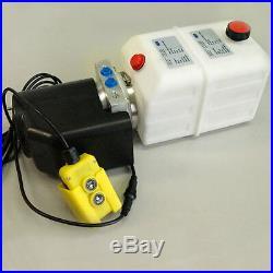 Hydraulikpumpe + FUNK, 4L 12V Hydraulikaggregat für LKW Kipper Anhänger Stapler