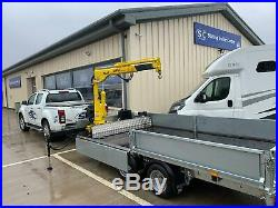 Ifor Williams Lm146 Crane Trailer 14ft X 6.6ft Hyva Crane Flatbed Hiab Trialer