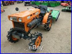 Kubota B6001D compact mini tractor with new grass mower paddock topper