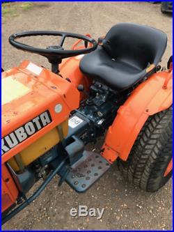Kubota B7100 4WD compact tractor on turf tyres