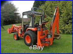Kubota St30 Compact Tractor Fitted With Loader And Backhoe