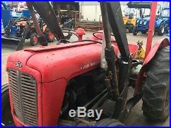 Massey Ferguson 35 3 Cylinder Tractor With loader+Bucket/Muck Fork & Topper