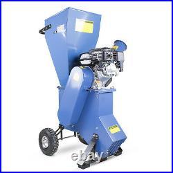 Petrol Wood Chipper Shredder Garden Mulcher Dual Chute, Chip = 76mm, 208cc 7HP