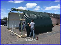 Portable Animal Shelter Farm Building Nissen Hut Shed Portable building