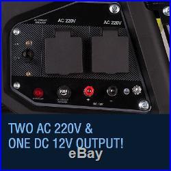 Portable Petrol Generator 3000w Electric Key Start Camping Power 3800E Bohmer