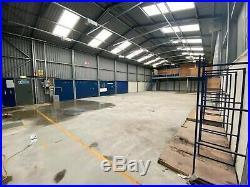 Pre-Fabricated Steel Industrial Building, Workshop, Metal Storage Shed. 302m2