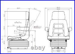 Schleppersitz Traktorsitz Stoff Case IHC CNH 554 644 724 743 744 824 844 845 946