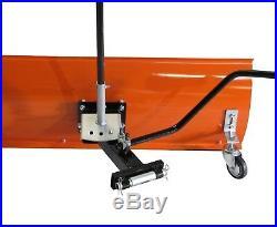 Schneeschild Räumschild für Rasentraktor 120 x 40 cm Modell Premium