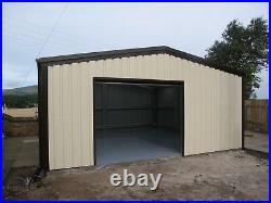 Steel Framed Car Single Garage Workshop Shed Building Kit