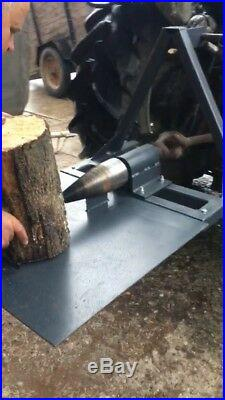 Tractor Log Splitter Powered Screw Type From PTO Fits Tractor Kat 1 Kat 2