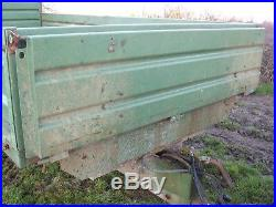 Tractor dropside tipping trailer, 8 ton trailer, tandem axle, fraser trailer