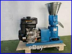 WOOD for Biomass PELLET MILL 120MM 5 Gasoline ENGINE PELLET PRESS IN WAREHOUSE