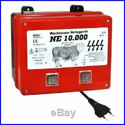 Weidezaungerät NE 10000 Netzgerät 230V 130 KM Zaun gewaltige 8.2 Joule